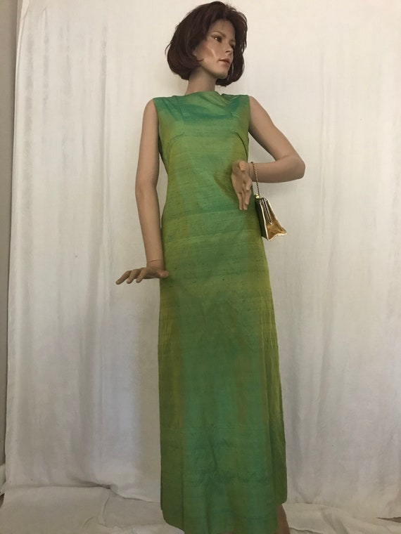 Vintage • 1960's • Sleeveless • Maxi Dress