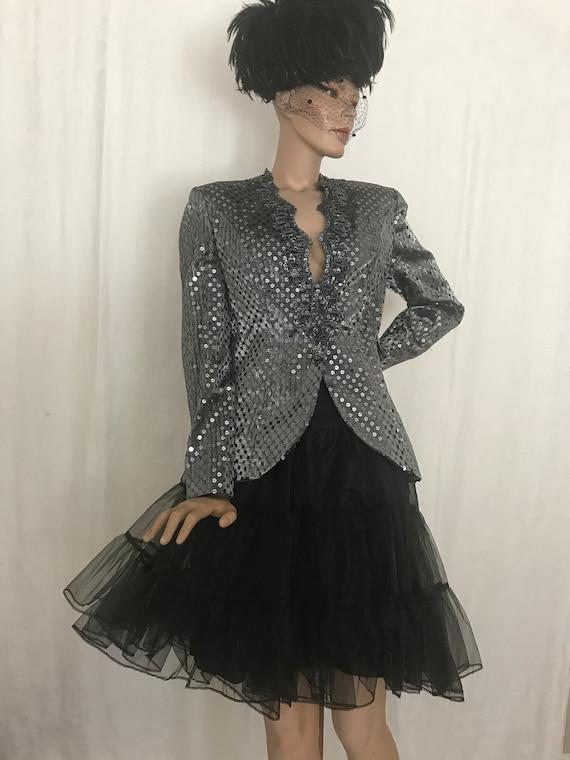 Vintage 1980's Victor Costa Sequin Jacket