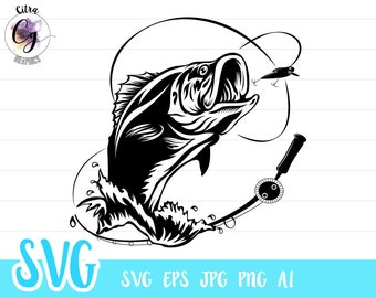 Download Bass Fishing Svg Etsy