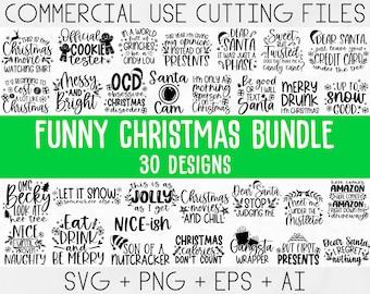Funny Christmas SVG Bundle, Christmas sign svg , Merry Christmas svg, Christmas Ornaments Svg, Winter svg, Xmas svg, Santa svg