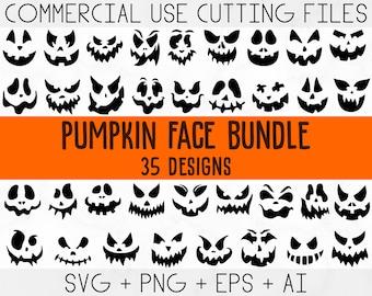 Pumpkin Face Svg, Jack O Lantern faces, Halloween pumpkins faces, Pumpkin Faces Clipart, Pumpkin Faces Cut File, Halloween face svg