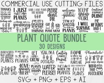 Plant Lover SVG Bundle, Plant svg, Plant Quotes Svg, houseplant svg, Plant Mom Svg, funny plant quote, garden quote svg,crazy plant lady svg