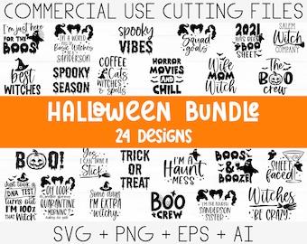 Halloween Svg Bundle, Witch svg, Ghost svg, Pumpkin svg, Halloween Vector, Sarcastic Svg, Silhouette, Cricut, Funny Mom Svg