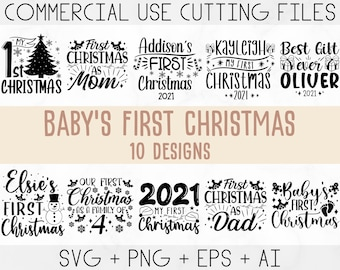 Baby's first christmas svg bundle, My first Christmas svg, First Christmas svg, Ornament svg, first christmas svg, Kids christmas svg