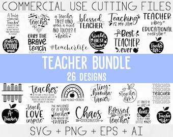 Teacher Svg Bundle, Teacher Quote Svg, Teacher Svg, School Svg, Teacher Life Svg, Back to School Svg, Teacher Appreciation Svg