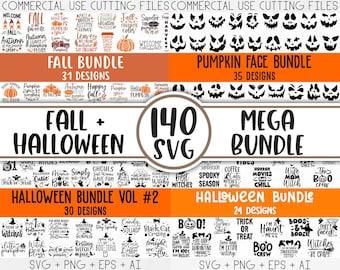 Fall Svg, Halloween svg bundle, Fall SVG bundle, Autumn Svg, Thanksgiving Svg, Pumpkin face svg, Porch sign svg, Cricut silhouette png
