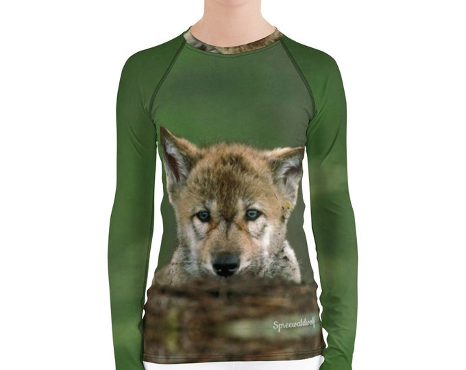 Women's Rash Guard - Baby Wolf