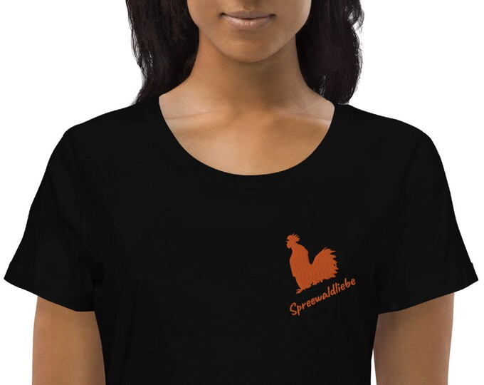 Women's fitted eco tee - Rooster- Spreewaldliebe