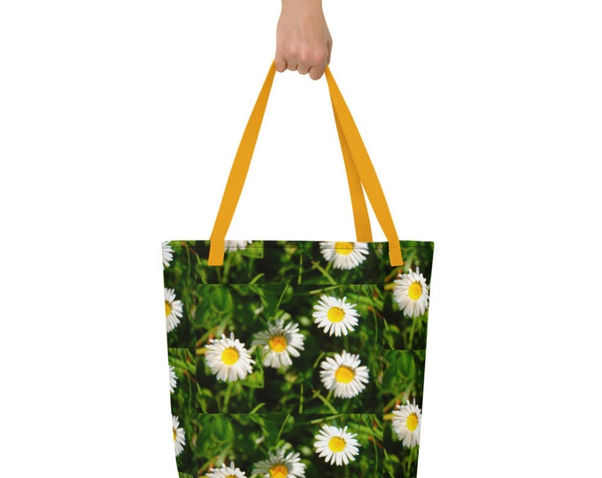 Beach Bag - allover Daisies - Spreewaldliebe