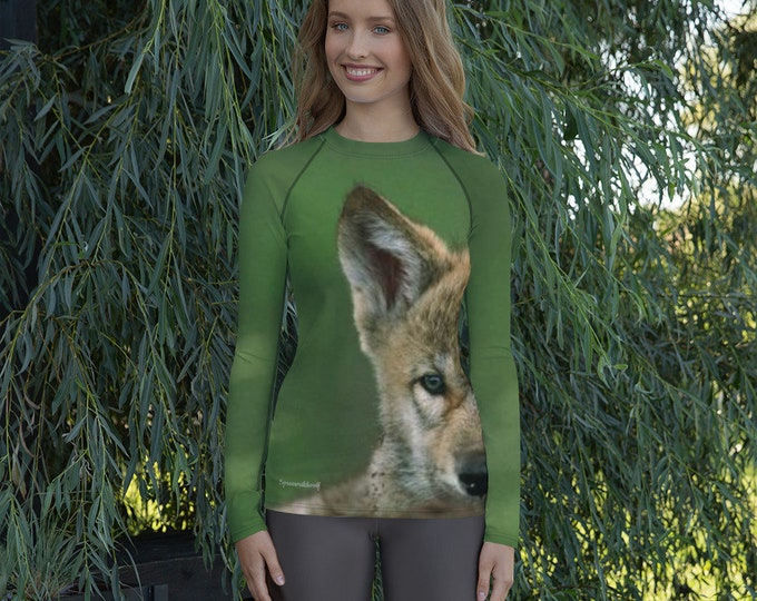 Women's Rash Guard - little Spreewald wolf