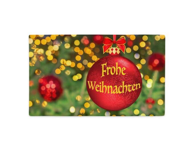 Premium Pillow Case - Frohe Weihnachten