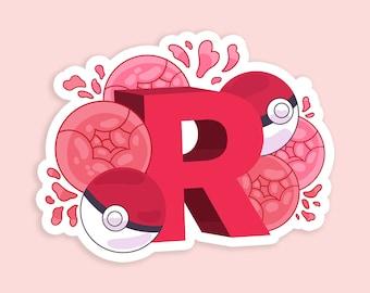 "Rosie Rocket  3"" inch Kawaii Cute Team Rocket Die Cut Sticker   Laptop iPad Bullet Journal Planner Matte Waterproof Hydroflask"