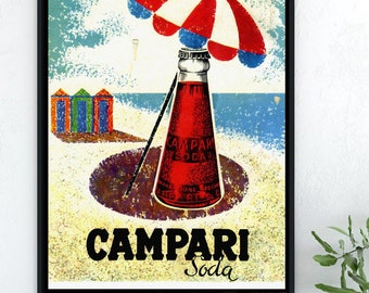 Campri Soda Vintage Wall Art Poster Print Great Home Vintage Decor