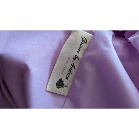 vintage cottagecore lavender ballgown with rosett… - image 8