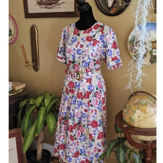 vintage 80's cottagecore sundress floral dress - image 2