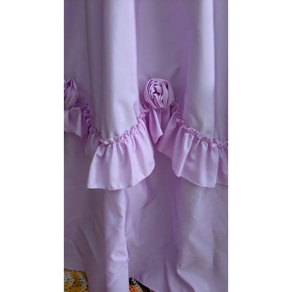 vintage cottagecore lavender ballgown with rosett… - image 6