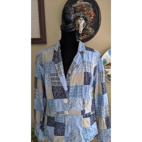 vintage patchwork blazer - image 5