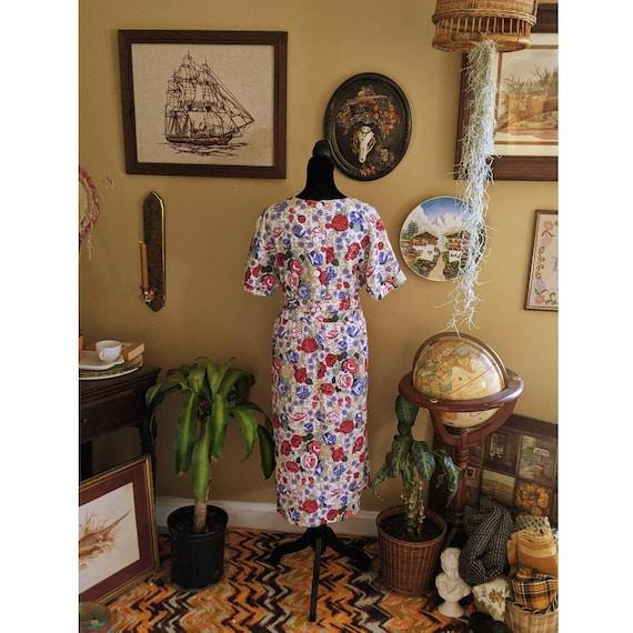 vintage 80's cottagecore sundress floral dress - image 3
