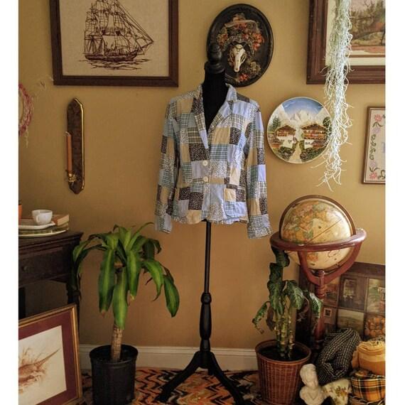 vintage patchwork blazer - image 1