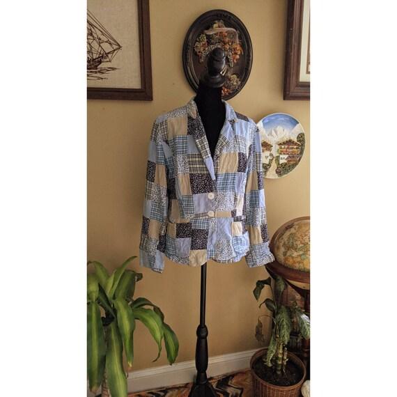 vintage patchwork blazer - image 3