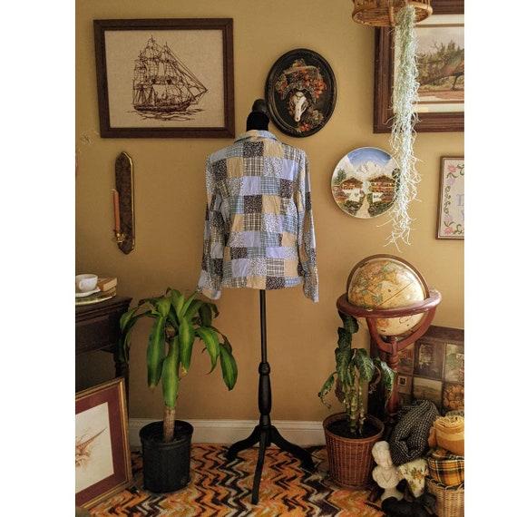 vintage patchwork blazer - image 2