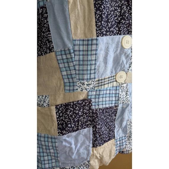 vintage patchwork blazer - image 4