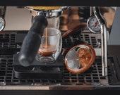 Espresso Shot Mirror Magnetic adhesive for Bottomless Portafilter (adjustable) - Walnut Bamboo Maple