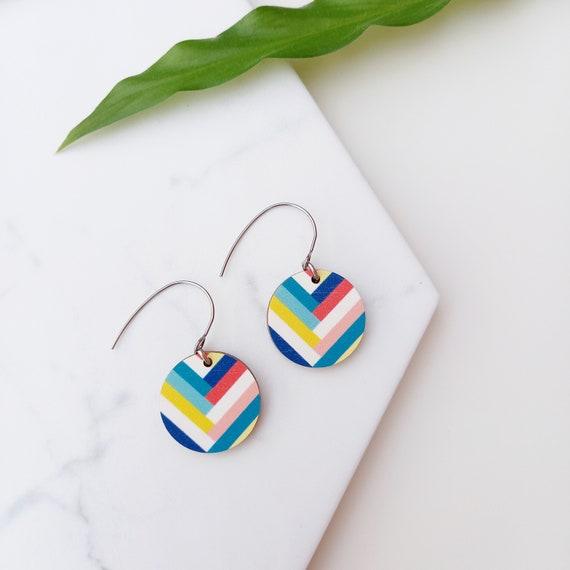 Handmade Key West Earrings   Unique Wooden Earrings   Sustainable Jewellery