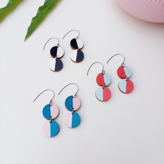 Handmade Miami Earrings | Unique Wooden Earrings | Sustainable Jewellery