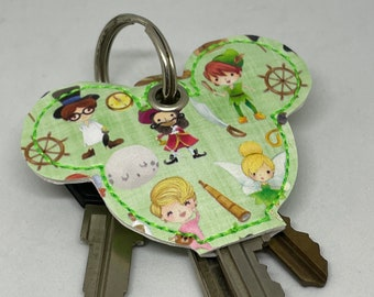 key topper cute key cap with peter pan and friends