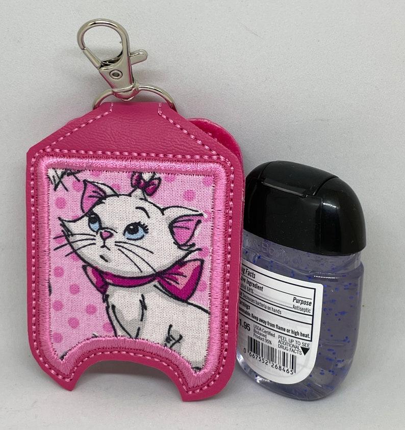 Hot Pink Marie Kitty Hand Sanitizer Holder image 0