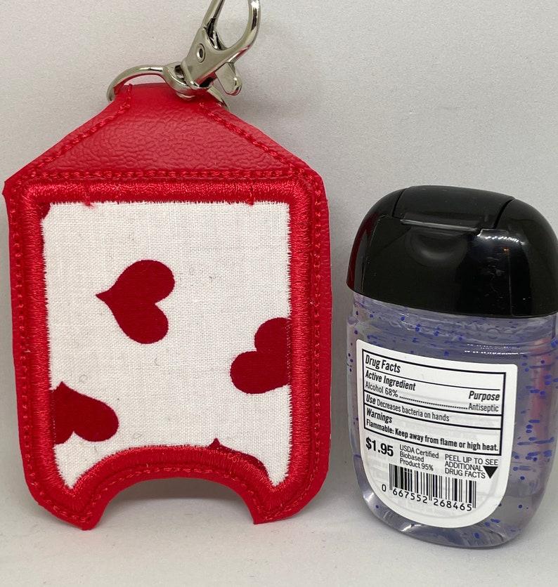 Red Heart Hand Sanitizer Holder Valentine's Day image 0