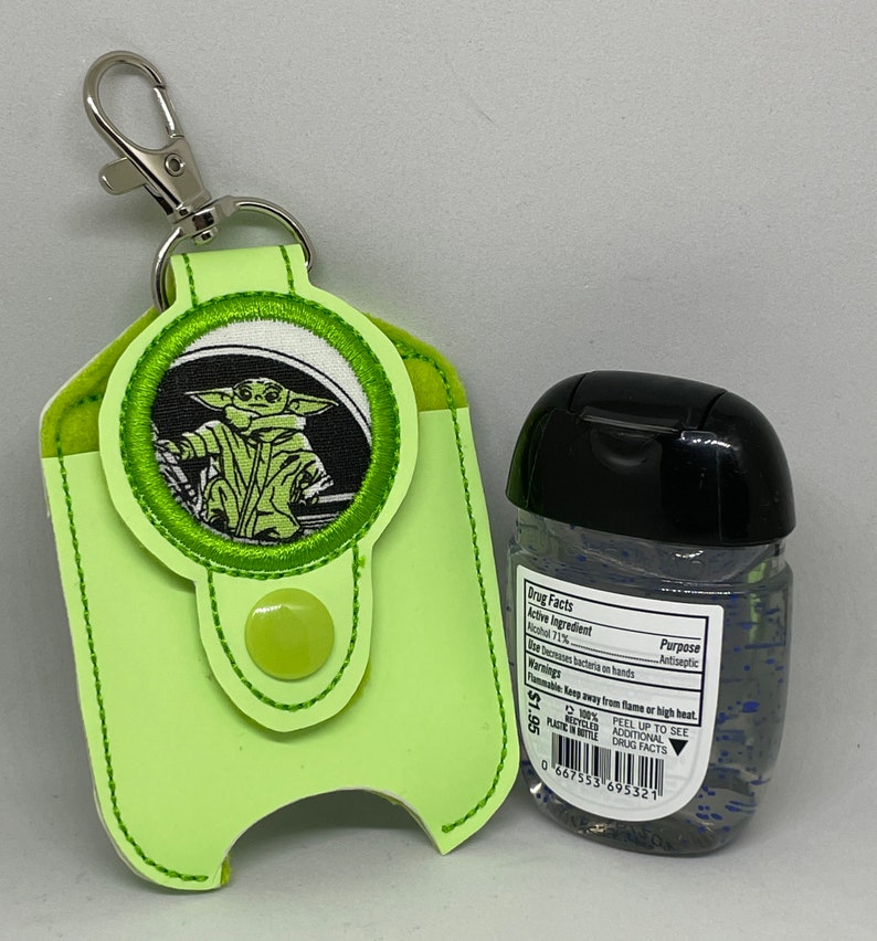 Green baby Yoda Hand Sanitizer Holder image 0