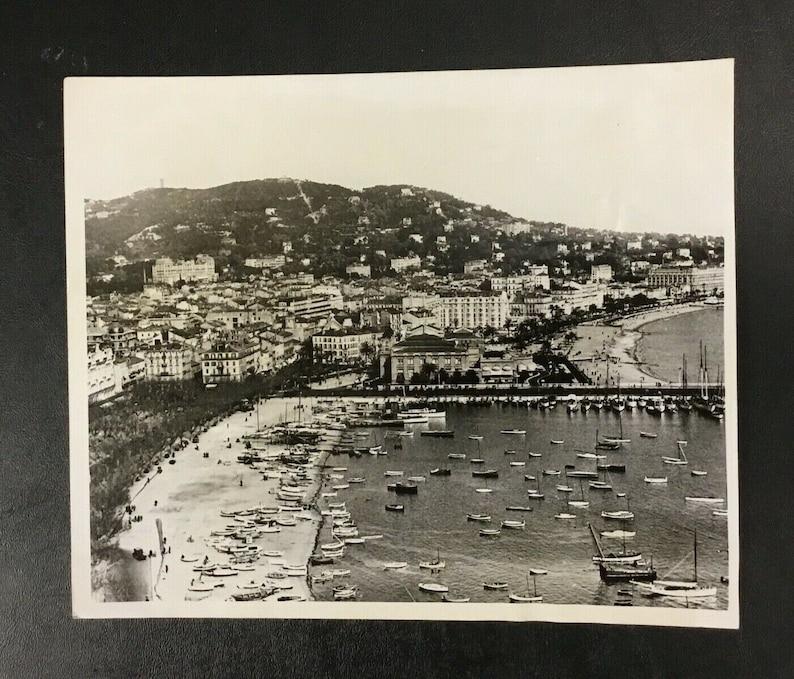 Original 1944 Cannes France Press Photo French Riviera World War II Beach Yacht