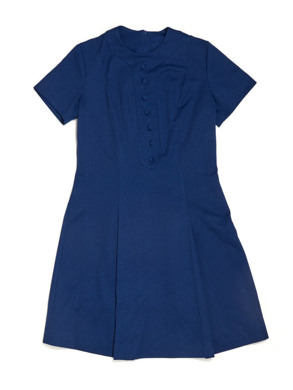 Vintage 1950's Royal Blue Dress