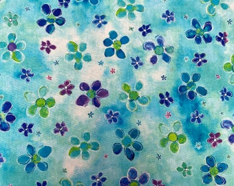 Blue Floral Fabric by P&B Textiles