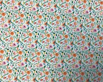 100% Cotton Floral Fabric