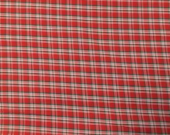 100% Cotton Christmas Check Fabric