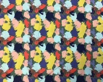 100% Cotton Colorful Brush Stroke Fabric