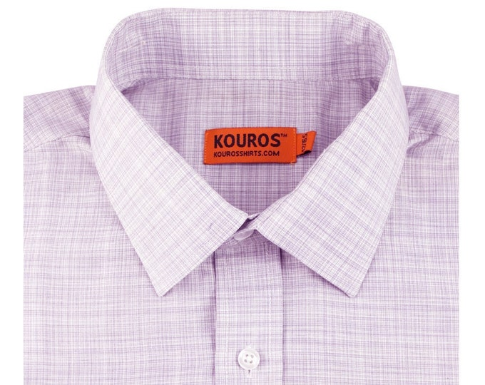 Men's Premium Designer Modern Slim Fit Dress Shirt with matching FREE collar cover, Gray