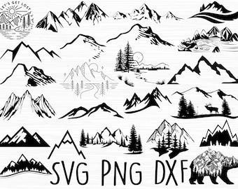 Mountain svg Bundle, Mountain svg, Nature svg, Outdoors svg, Mountains svg, Svg Files for Cricut