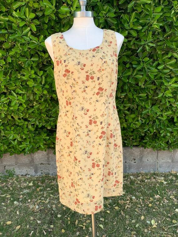 Vintage 90s  Black and White Sundress  Summer Dress  Boho Hippie Sundress  Ruched Elastic Top  VI619
