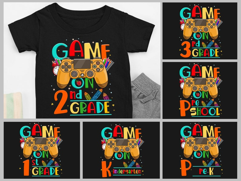 Game On 2nd Grade Shirt For Boy Back To School Shirt Second image 0