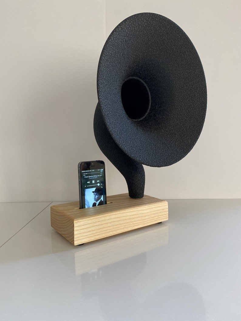 Christmas Gift Acoustic Iphone Amplifier Unique Home Decor Acoustic iPhone Speaker Gramophone iPhone Passive Speaker  Housewarming
