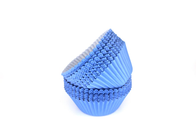 2 inches diameter base 1.5 inches height 100 pcs Blue Baking Cups Muffins 2 Pack of 50 Paper Liners Wrappers for Cupcakes