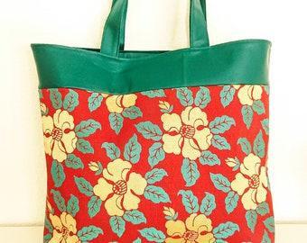 Cotton Canvas Tote 9 Blue Hemp Japanes Obi Bag Christmas gift