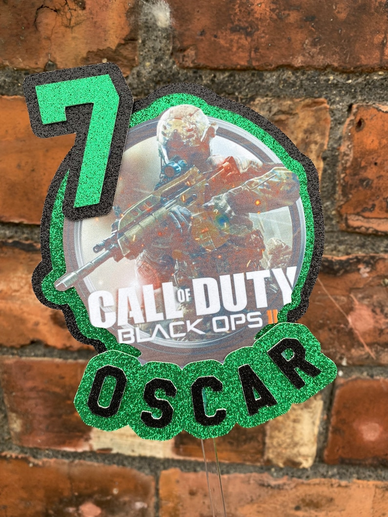 11. Call of duty COD - Gaming Cake Topper