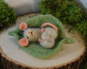 Cute Decor Handmade Gift Needle Felted Animal Sculpture Poppy the Mouse