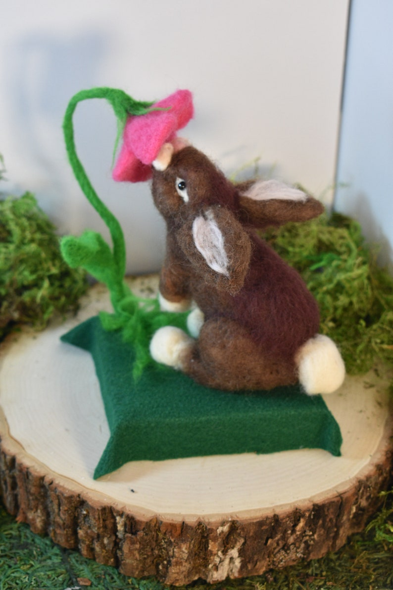 Needle Felted Animal Unique /& Cute Cecily the Rabbit Handmade Gift