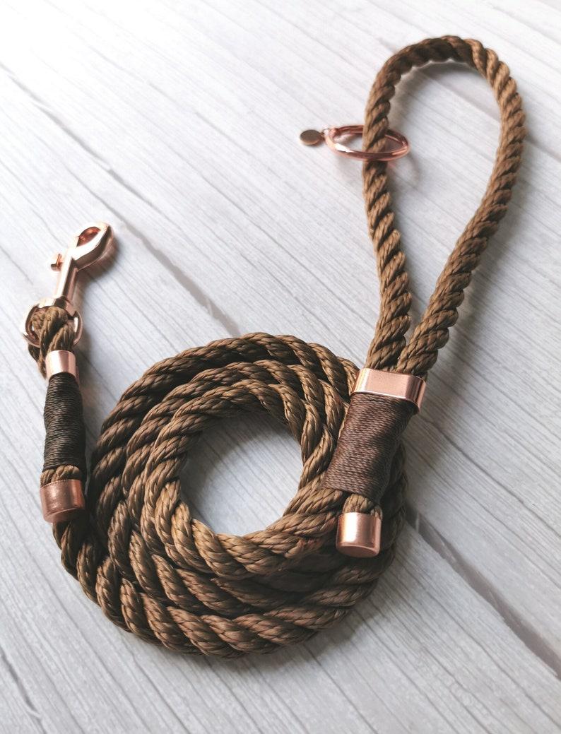Personalised Dog Leash Rope Dog Lead Custom Rope Dog Lead